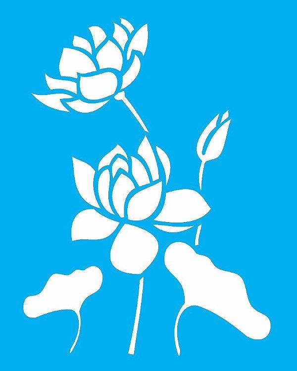 Stencil 20x25 Flor De Lotus - OPA 1775