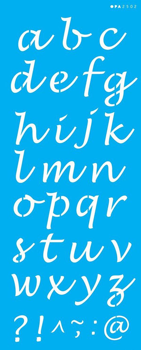 Stencil 17x42 Alfabeto Minúsculo - OPA 2502