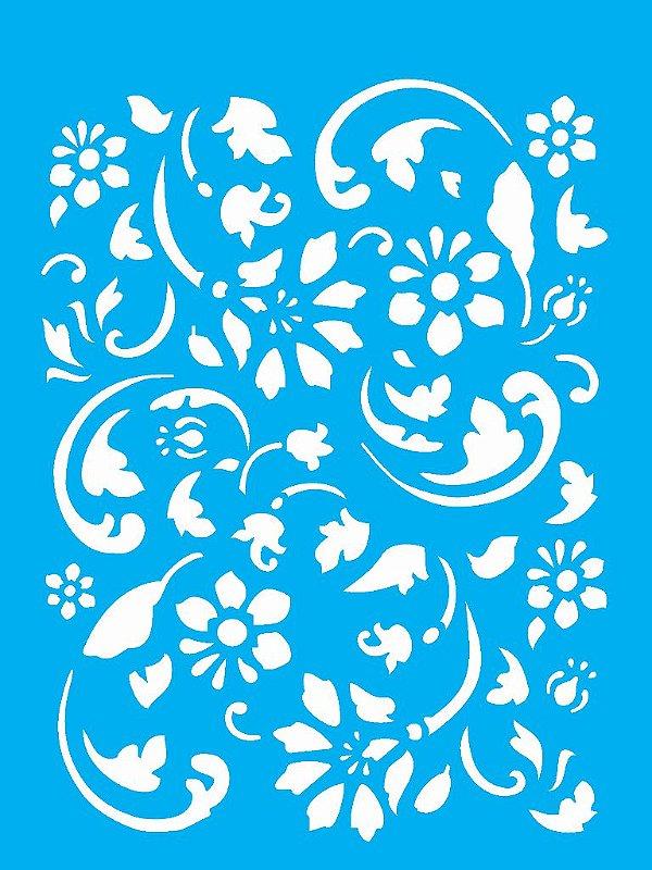Stencil 15x20 Estamparia Floral 2 - OPA 1006