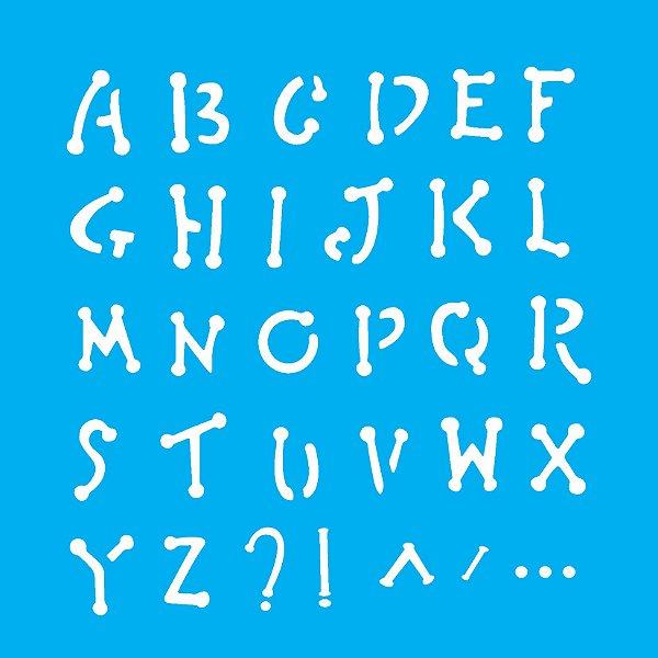 Stencil 14x14 Alfabeto - OPA 0973