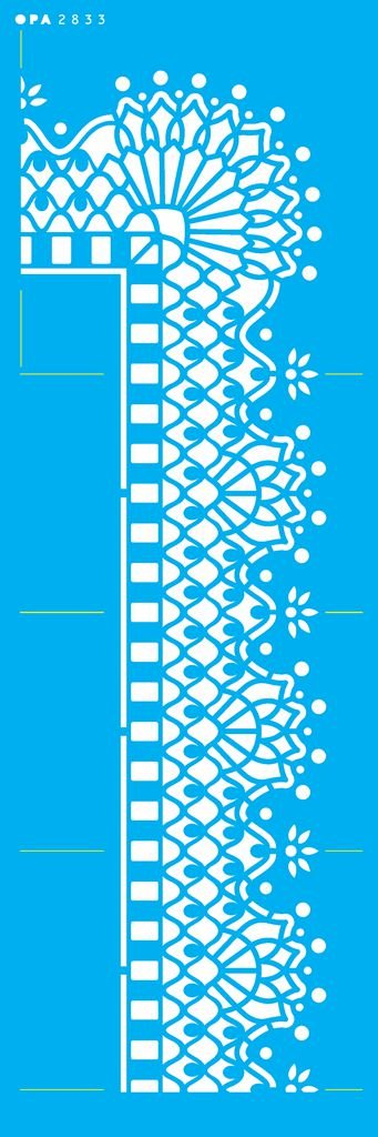 Stencil 10X30  - Cantoneira Renda OPA 2833