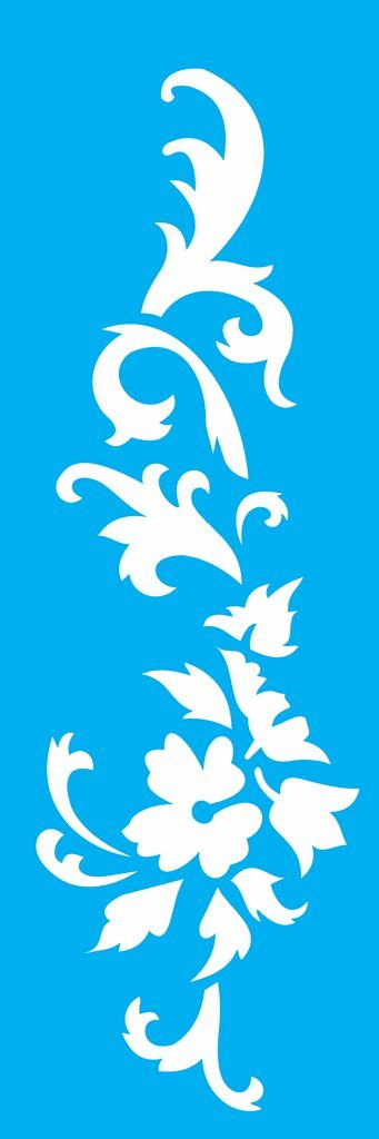 Stencil 10X30 Arabesco Floral 3 - OPA 1846