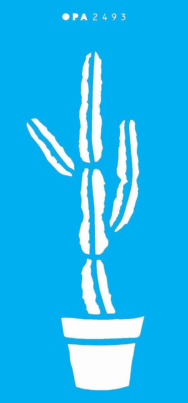 Stencil 7x15 Simples – Plantas Cactos OPA 2493