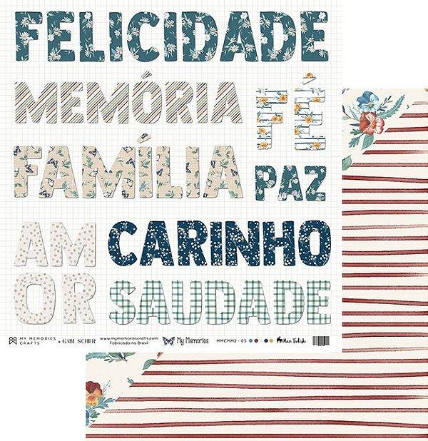 Folha para Scrapbook - My Memories Crafts - Coleção My Memories MMCMM2-05