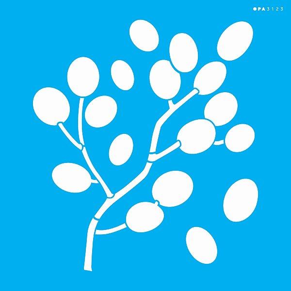 Stencil 30,5X30,5 – Orgânico Folhas Bolinhas - OPA 3123