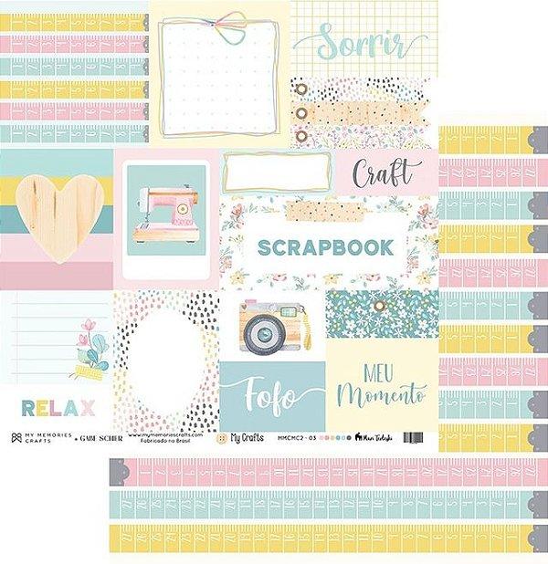 Folha para Scrapbook - My Memories Crafts - Coleção My Crafts MMCMC2-03