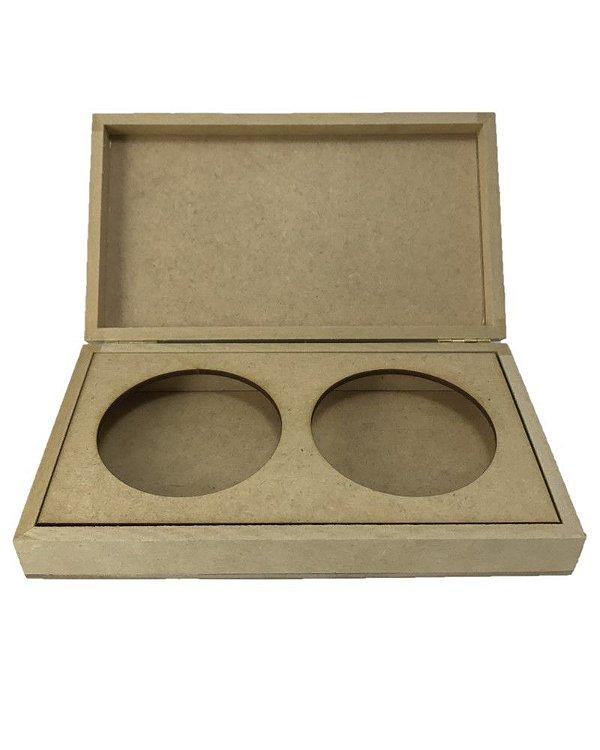Caixa Porta Sabonete Duplo Articulada Decoração Em MDF