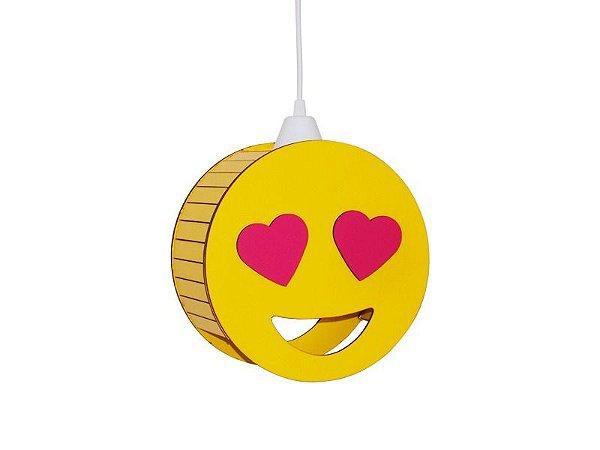 Luminária Suspensa Personali Emoticon Apaixonado Decorativo
