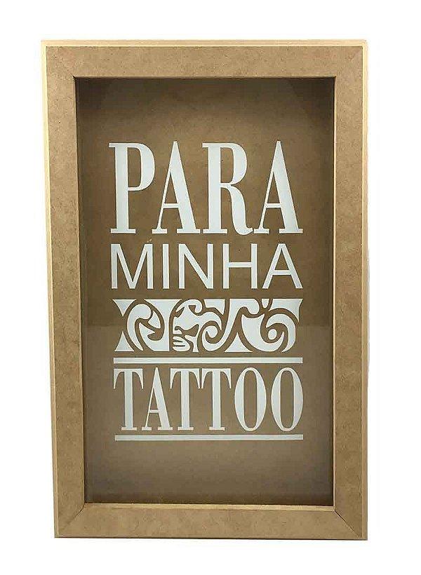 Quadro Cofre Para Minha Tattoo Vidro Decoração Tatuagem
