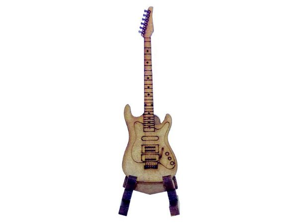 Miniatura Guitarra Com Suporte A118