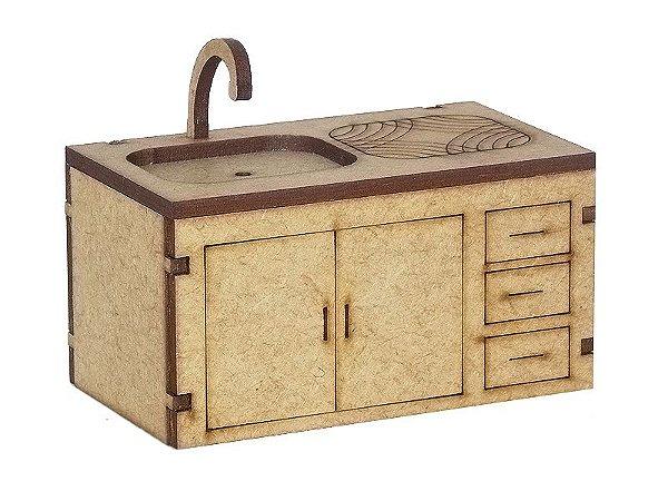Miniatura Pia de Cozinha A003