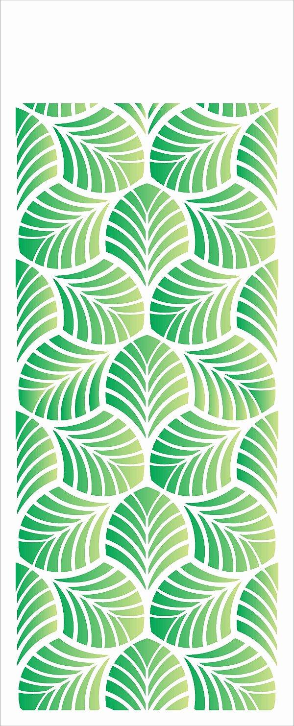 Stencil de Acetato para Pintura OPA Simples  17 X 42 CM - Estamparia Folhagem 2623
