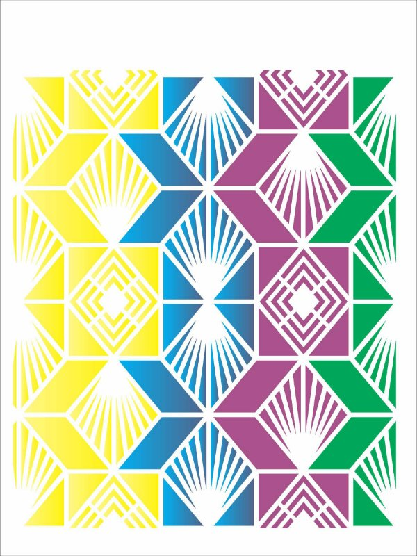 Stencil de Acetato para Pintura OPA Simples 15 x 20 cm - 2620 Estamparia Vitral Losango