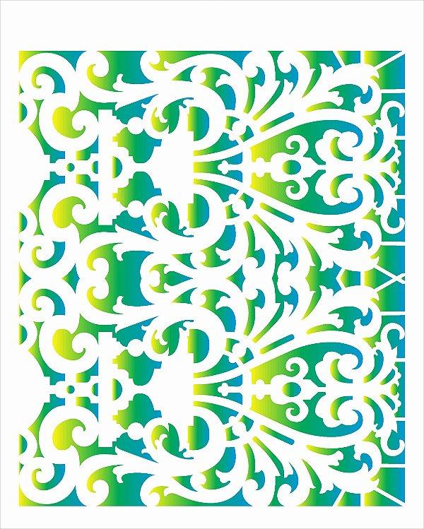 Stencil de Acetato para Pintura OPA Simples 20 x 25 cm - 2635 Renda Arabesco