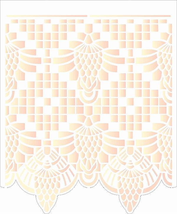 Stencil de Acetato para Pintura OPA Simples 20 x 25 cm - 2633 Negativo Renda III