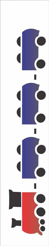 Stencil de Acetato para Pintura OPA Simples 6 x 30 cm - Trem 813