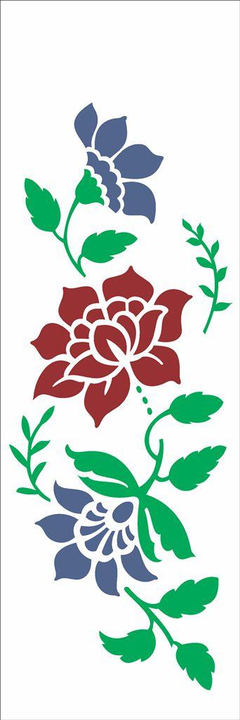 Stencil de Acetato para Pintura OPA Simples 10 x 30 cm - 2331 Flor Bauer III