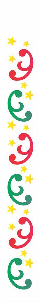Stencil de Acetato para Pintura OPA 04×30 Simples – Arabesco Estrelas – OPA 1101