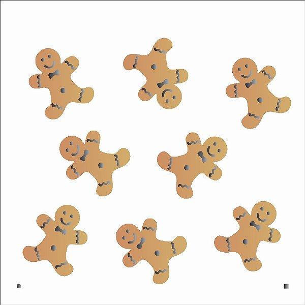 Stencil de Acetato para Pintura OPA 14×14 Duplo – Ginger – OPA 2113