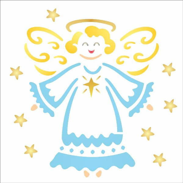 Stencil de Acetato para Pintura OPA 14×14 Simples – Anjinho – OPA 1107