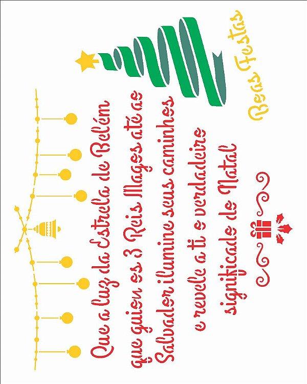 Stencil de Acetato para Pintura OPA 20×25 Simples – Poema Mensagem Natalina – OPA 2558