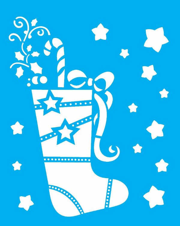 Stencil de Acetato para Pintura OPA 20X25 Simples – Bota de Natal – OPA 1118