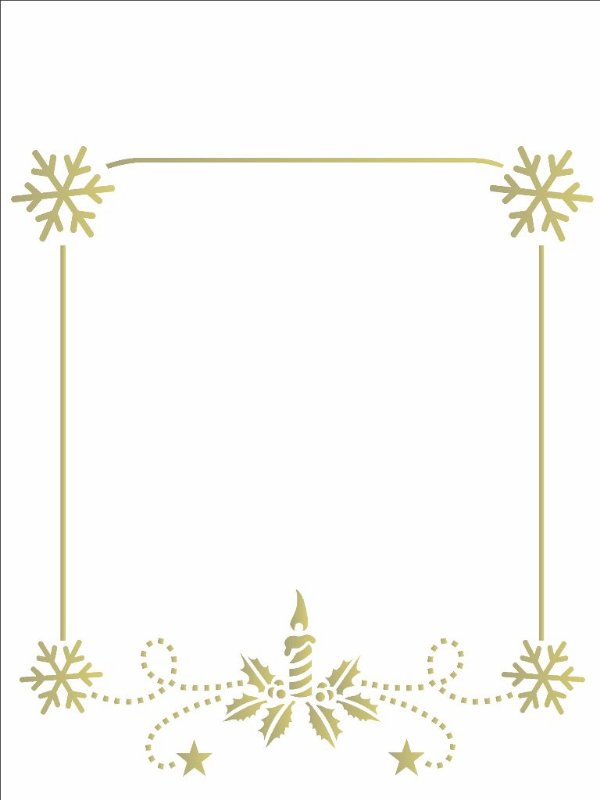 Stencil de Acetato para Pintura OPA 15×20 Simples – Moldura Natal – OPA 2115