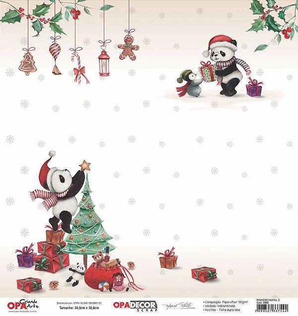Papel Para Scrapbook Opadecor 30,5x30,5 Pinheiro Natal 2 2806