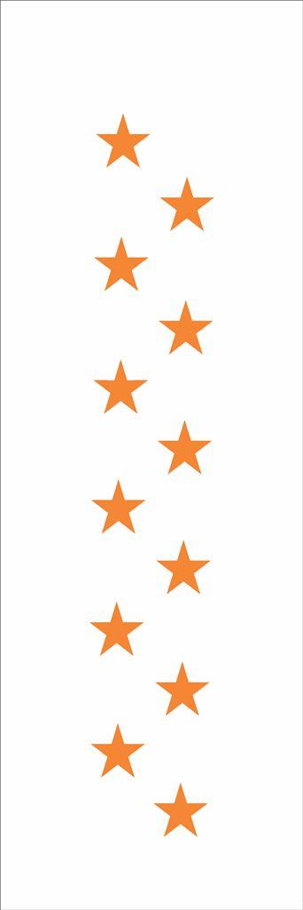 Stencil 10×30 Simples – Estrelas Gr – OPA 020
