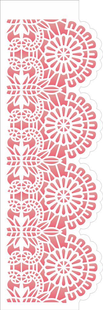 Stencil 10×30 Simples – Negativo Renda VI – OPA 2681