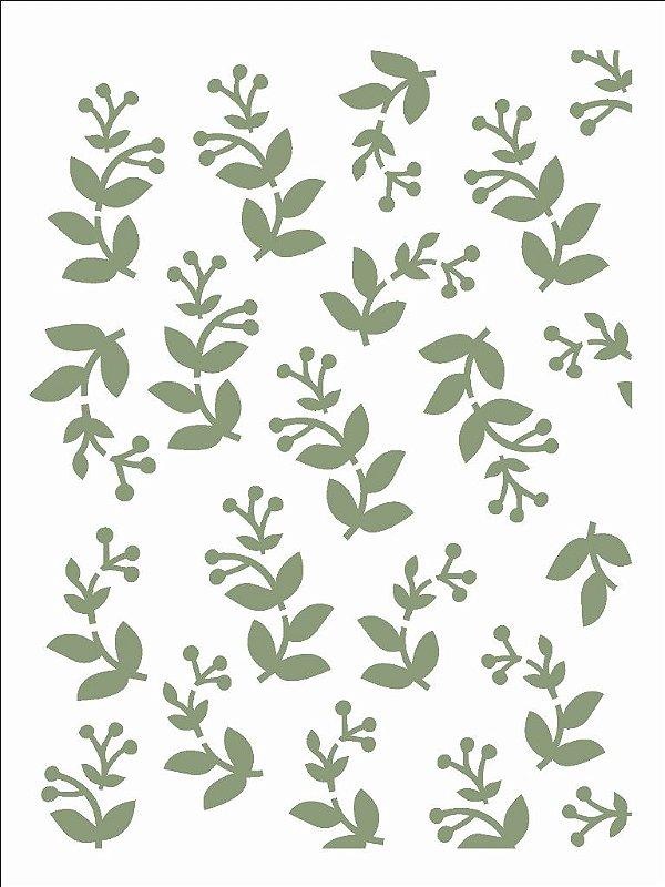 Stencil 15×20 Simples – Estamparia Folhas II – OPA 2698