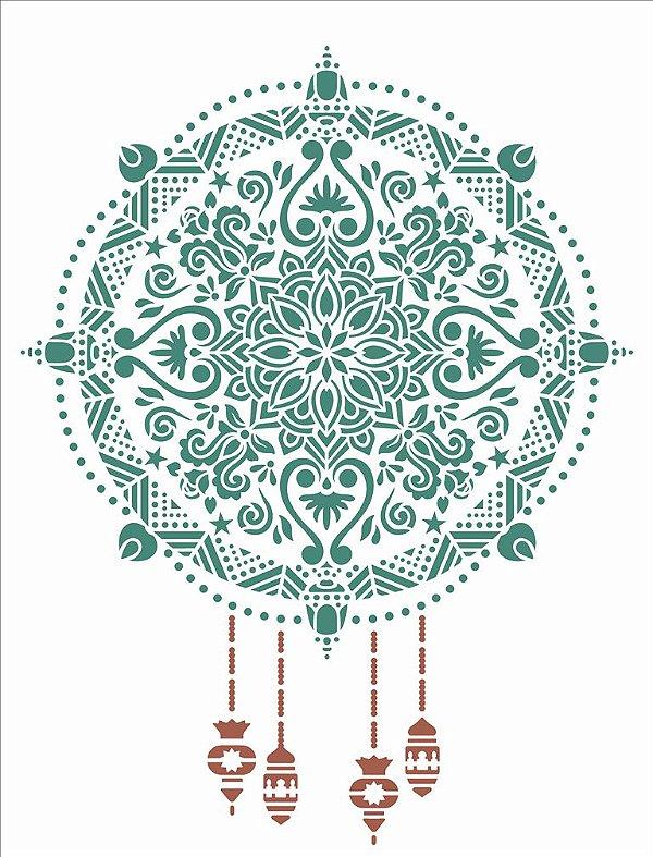 Stencil 32×42 Simples – Mandala Natalina – OPA 2744