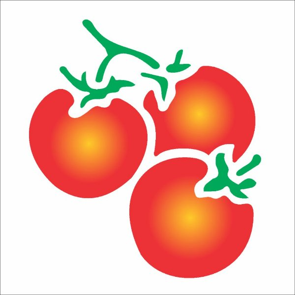 Stencil 10X10 Simples – Tomates – OPA788