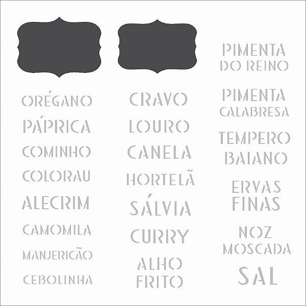 Stencil 14×14 Simples – Tag Temperos – OPA 2340