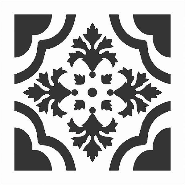 Stencil 14×14 Simples – Ladrilho Trevo – OPA 1368