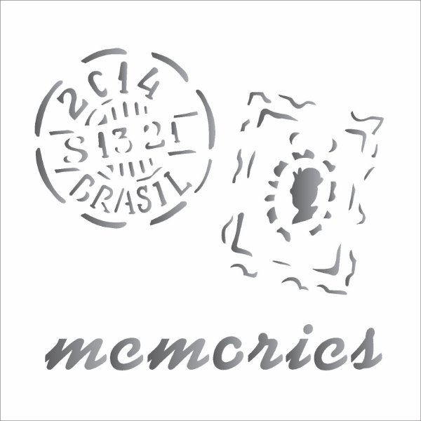 Stencil 14×14 Simples – Memories Selos – OPA 1369