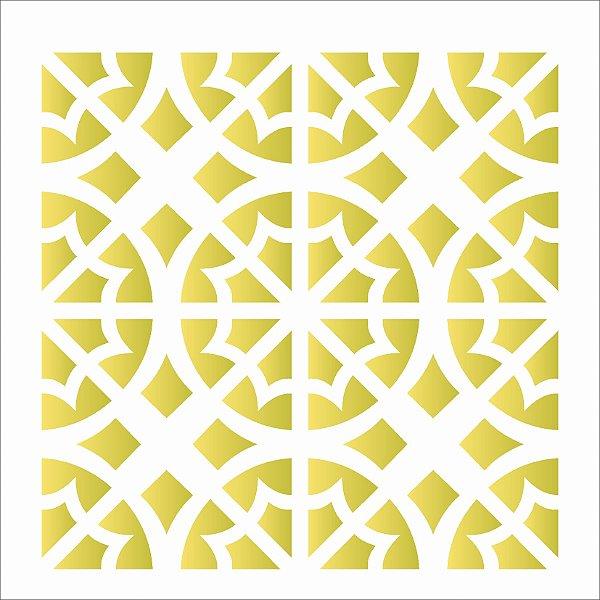 Stencil 14×14 Simples – Ladrilho – OPA 2013