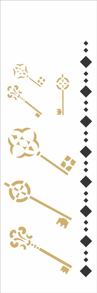 Stencil 10×30 Simples – Chaves – OPA 711