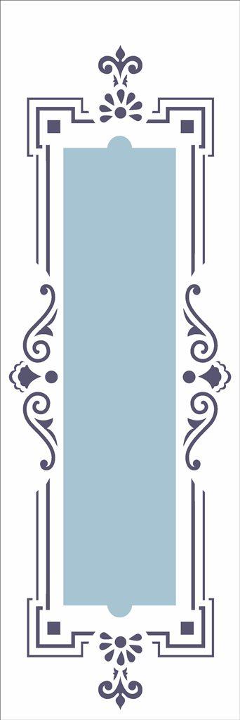 Stencil 10×30 Simples – Moldura Colonial – OPA 2424