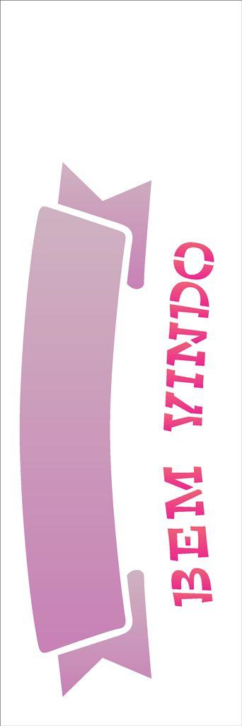 Stencil 10×30 Simples – Bem Vindo – OPA 1462