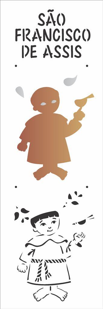 Stencil 10×30 Simples – São Francisco de Assis – OPA 2163