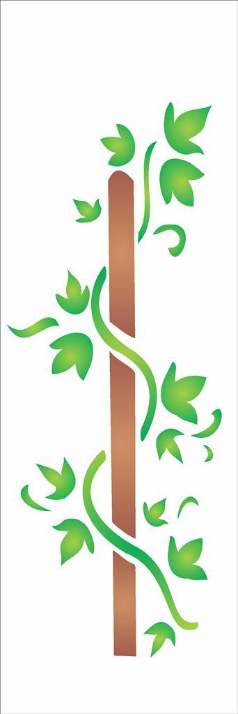 Stencil 10×30 Simples – Folha Trepadeira – OPA 967