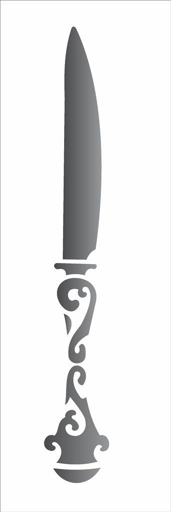Stencil 10×30 Simples – Faca – OPA 1468