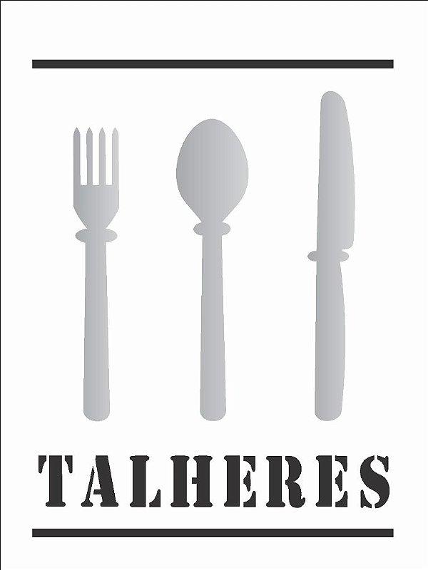 Stencil 15×20 Simples – Talheres – OPA 751