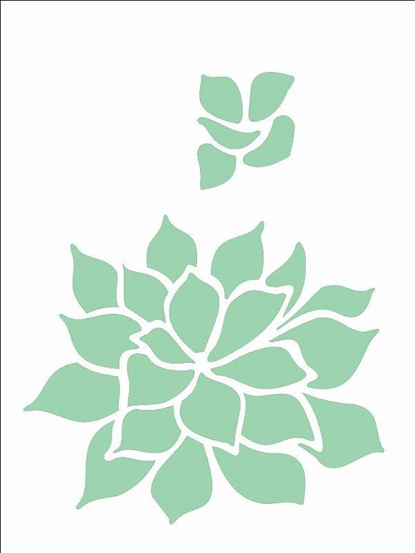Stencil 15×20 Simples – Palntas Suculenta – OPA 2499