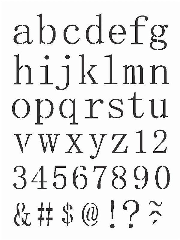 Stencil 15×20 Simples – Alfabeto Reto Minusculo – OPA 2496