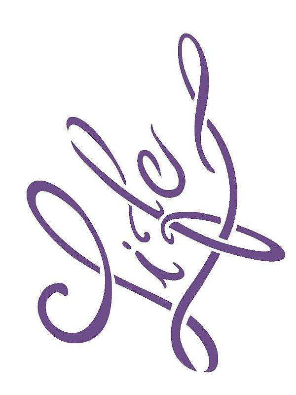 Stencil 15×20 Simples – Palavras Life – OPA 2254