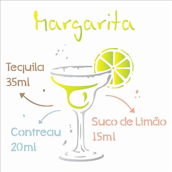 Stencil 30,5×30,5 Simples – Drink Margarita – OPA 2196