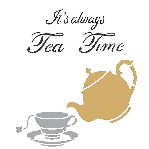 Stencil 30,5×30,5 Simples – Tea Time – OPA 2303