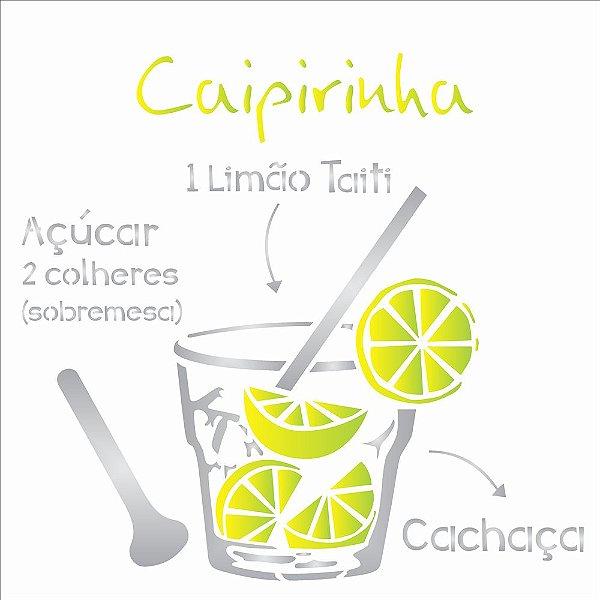 Stencil 30,5×30,5 Simples – Drink Caipirinha – OPA 2195